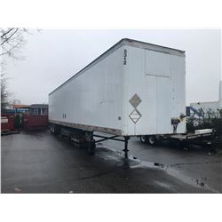 1999 53' UTILITY TRAILER, WHITE, VIN#1UYVS2531XP698703, 1 ICBC REPAIRED DECLARATION $1557.72, OOC