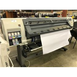 HP DESIGNJET L25500 WIDE FORMAT PRINTER, COMES WITH THREE ROLLS OF VINYL