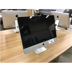 APPLE IMAC 21.5'' COMPUTER, MODEL A1311, SERIAL NUMBER W89453Z35PK, WITH APPLE KEYBOARD AND