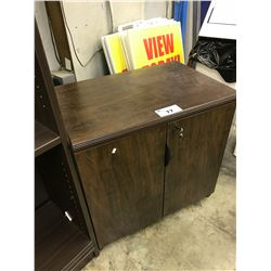DARK WOOD 30'' DOUBLE DOOR CABINET
