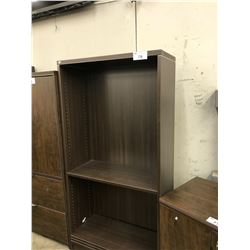DARK WOOD 6' ADJUSTABLE SHELF BOOK CASE