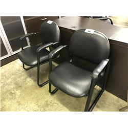 BLACK LEATHER CLIENT CHAIR