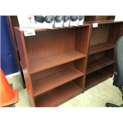 MAHOGANY ADJUSTABLE SHELF 4' BOOK CASE