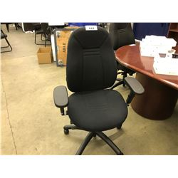 BLACK FULLY ADJUSTABLE HIGH BACK TASK CHAIR