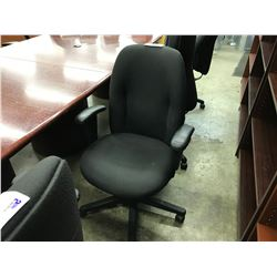 BLACK FULLY ADJUSTABLE HIGH BACK TASK CHAIR, S2