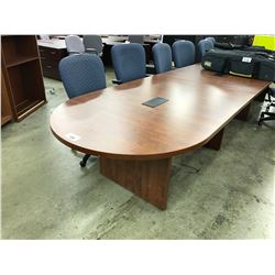 DARK MAPLE 16' RACETRACK BOARDROOM TABLE