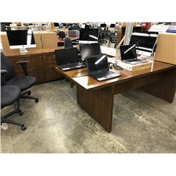 DARK WALNUT 10' X 8' U-SHAPE EXECUTIVE DESK