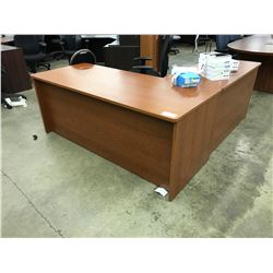 CHERRY 6' X 6' L-SHAPE EXECUTIVE DESK