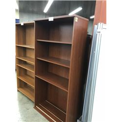 CHERRY 6' ADJUSTABLE HEIGHT BOOK CASE