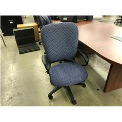 HON BLUE LOOP ARM HIGH BACK EXECUTIVE CHAIR