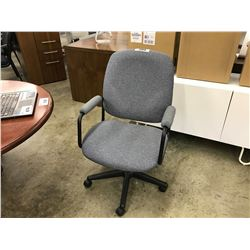BLUE MID BACK LOOP ARM EXECUTIVE CHAIR