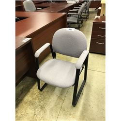 LIGHT GRAY SLED BASE CLIENT CHAIR