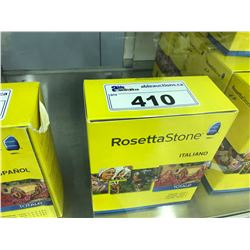 ROSETTA STONE LANGUAGE LEARNING SOFTWARE, LEVEL 1, VERSION 4, ITALIAN