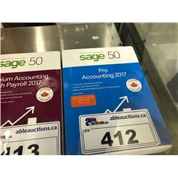 SAGE 50 PRO ACCOUNTING 2017 SOFTWARE