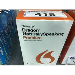 LOT OF 2 COPIES OF NUANCE DRAGON NATURALLY SPEAKING PREMIUM SPEECH RECOGNITION SOFTWARE, WITH
