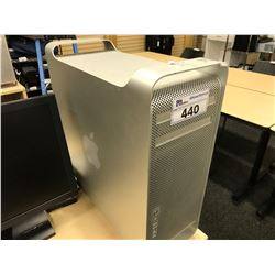 APPLE MAC PRO, MODEL A1289, SERIAL NUMBER E722800VEUF, WITH APPLE KEYBOARD,