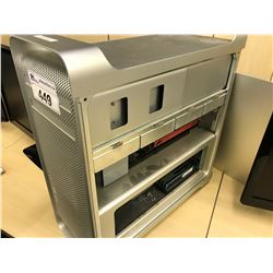 APPLE MAC PRO, MODEL A1289, SERIAL NUMBER E722700WEUE, WITH APPLE KEYBOARD,