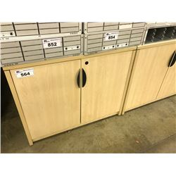 MAPLE 3' DOUBLE DOOR CABINET