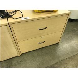 MAPLE 2 DOOR LATERAL FILE CABINET
