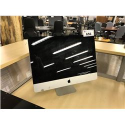 APPLE IMAC 21.5'' COMPUTER, MODEL A1311, SERIAL NUMBER C02GF3YADHJN, WITH APPLE KEYBOARD,