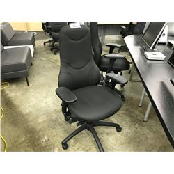 BLACK HIGH BACK MULTILEVER TASK CHAIR