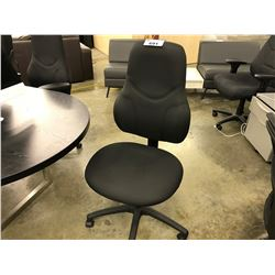 BLACK MID BACK MULTILEVER TASK CHAIR, NO ARMS