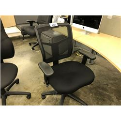 BLACK MESH BACK MID BACK MULTI LEVER TASK CHAIR