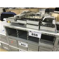 2X ACTIVO STORAGE MODEL AC16SFC01 16 DRIVE STORAGE ARRAY, WITH LARGE QUANTITY OF NON LATCHING