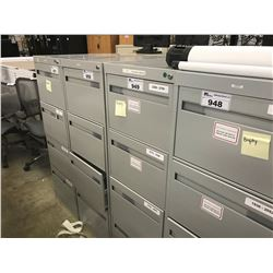GREY 4 DRAWER LEGAL SIZED VERTICAL FILE CABINET