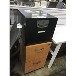 BLACK SENTRY SAFE SINGLE DRAWER LOCKER FILE CABINET *LOCKED, NO KEY*, MAPLE 2 DRAWER MOBILE