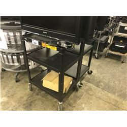 2 METAL MOBILE UTILITY CARTS