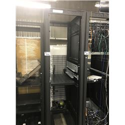 7' BLACK METAL SERVER RACK