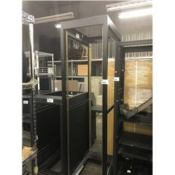 7' BLACK OPEN SERVER RACK