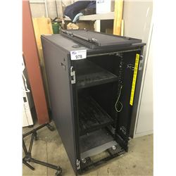 4' METAL SERVER RACK WITH DOORS