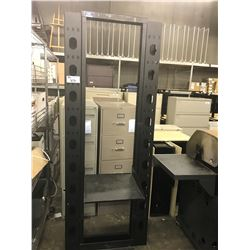 7' BLACK METAL COMPACT SERVER RACK