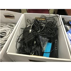 LOT OF ASSORTED ELECTRONICS, ADAPTERS, CONVERTERS AND MORE