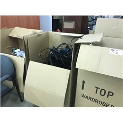 3 BOXES OF MISC. ELECTRONICS AND MORE