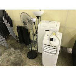 2 AIR CONDITIONERS, LAMPS, FANS AND HEATERS