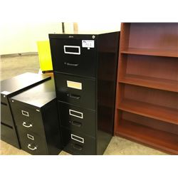 BLACK 4 DR VERTICAL FILE CABINET