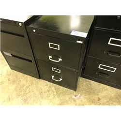 BLACK 2 DR VERTICAL FILE CABINET