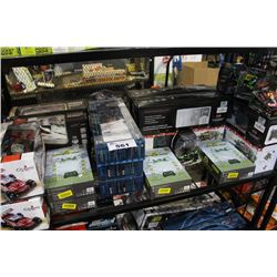 SHELF LOT OF RC VEHICLES INCLUDING HELICOPTERS, TRUCKS, CARS, BOATS AND MORE