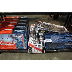 SHELF LOT OF COBRA RC DRONES AND HELICOPTERS
