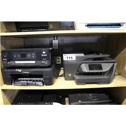 THREE PRINTERS INCLUDING CANON, EPSON AND HP