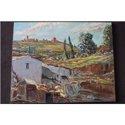 """ORIGINAL OIL PAINTING ON CANVAS SIGNED OTTO JEGODKA """"IN THE COUNTRY"""""""