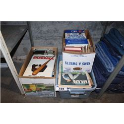 THREE BOXES OF BOOKS