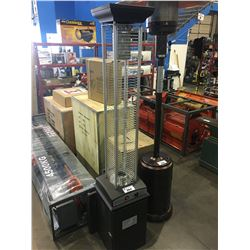 PARAMOUNT GLASS FLAME OUTDOOR PROPANE PATIO HEATER