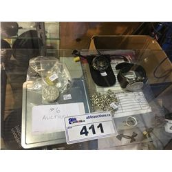 ASSORTED JEWELRY, COINS & WATCHES
