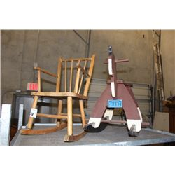 CHILD'S ROCKING CHAIR AND ROCKING HORSE