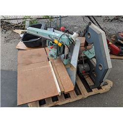 DEWALT RADIAL ARM SAW AND BEAVER BAND SAW