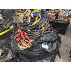 PALLET OF AIR HOSE AND SAFETY HARNESSES